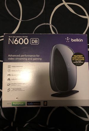 WiFi Router - Belkin N600 DB for Sale in Quantico, VA