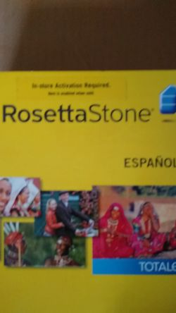 Rosetta Stone Spanish Levels 1-5 with Activation Key and Audio Accompany CDs for Sale in Greenville,  SC