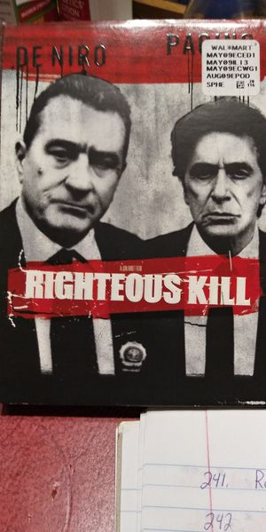 Righteous Kill dvd for Sale in Brainerd, MN