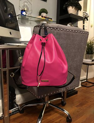 "Juicy Couture backpack paid $139 good condition. Drawstring Pink Backpack measurements 15""L x 5.5""W x 13""H Recently purchased. Great backpack! for Sale in Washington, DC"