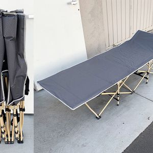 """(Brand New) $50 Folding Cot Camping Bed Collapsible w/ Carrying Bag Outdoor 75""""x27"""" (Max 300lbs) for Sale in Pico Rivera, CA"""