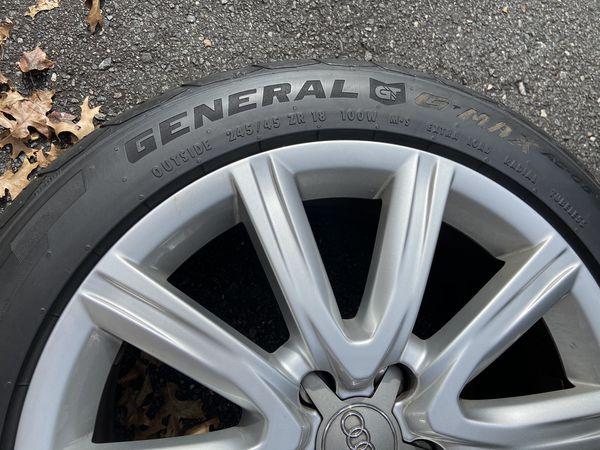 Wheels Audi WV 5x112 with tires 245/45/18 OEM Audi Wheels
