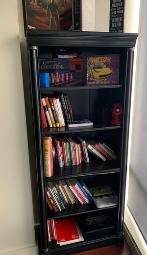 5 Shelves Book Case- Assembled. Black Distressed color for Sale in Portland, OR