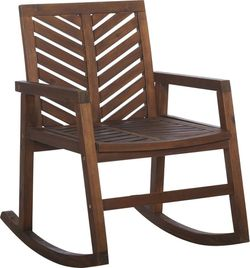 **NEW** Saracina Home Chevron Outdoor Rocking Chair In Brown for Sale in Anaheim,  CA