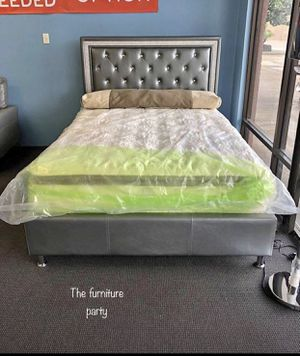 Brand new diamond bed frame queen and king for Sale in Atlanta, GA