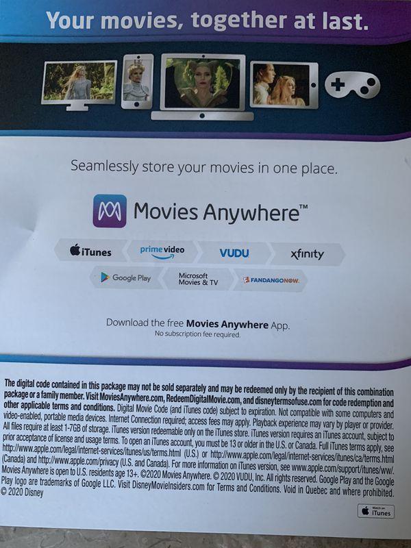 Digital Code Movie Maleficent 2 Disney