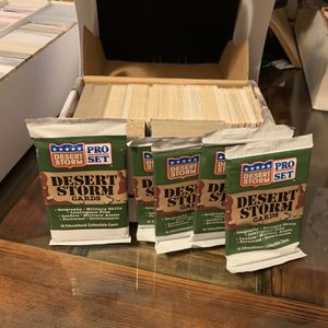 Desert Storm 1991 Pro Set Singles And Unopened Packs for Sale in Santee, CA