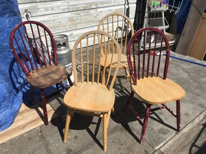 4 wooden chairs for Sale in Orem, UT