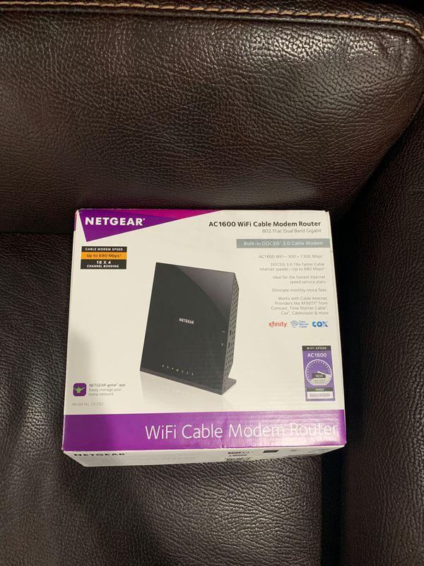 Netgear AC1600 modem router dual band