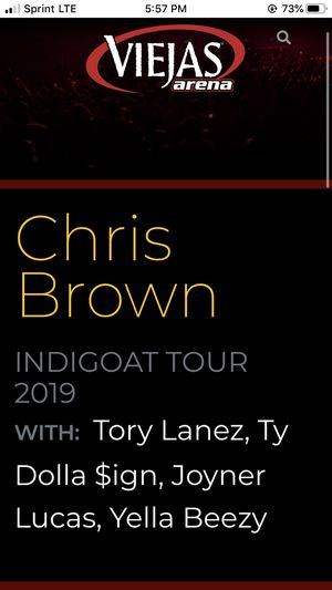 Chris Brown Tix for tonight San Diego for Sale in Lemon Grove, CA