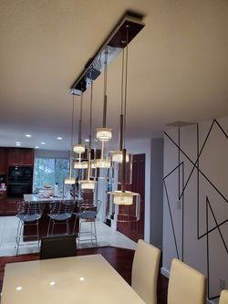 Glass mod chandelier for Sale in Tacoma,  WA
