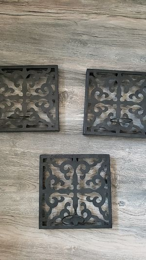 Iron Wall Decor Candle Holder for Sale in Los Angeles, CA