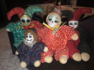 Set of glass clown collectibles for Sale in Hollywood, FL