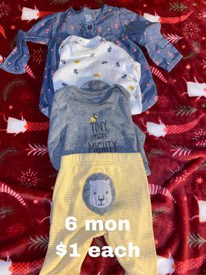 6 month leggings , onesies shirt $1 each for Sale in Buena Park, CA