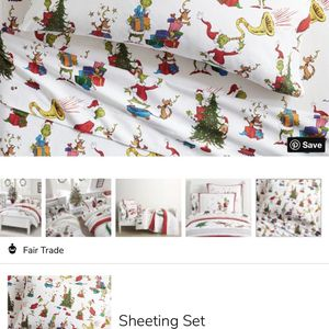 Pottery Barn Kids Grinch & Max Flannel Sheets Set TWIN for Sale in Monaca, PA