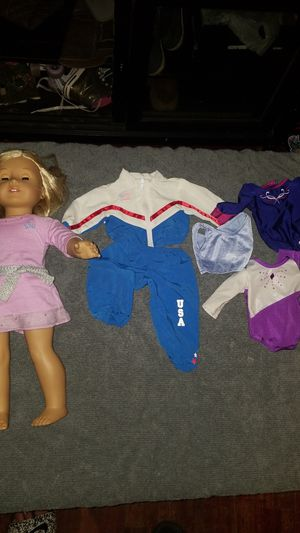 American girl doll with gymnastic cloths for Sale in Oak Harbor, WA
