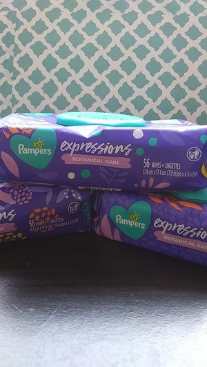 New pampers expressions baby wipes 3pack for Sale in Pompano Beach, FL