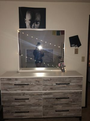 Dresser and bed frame for Sale in Anchorage, AK