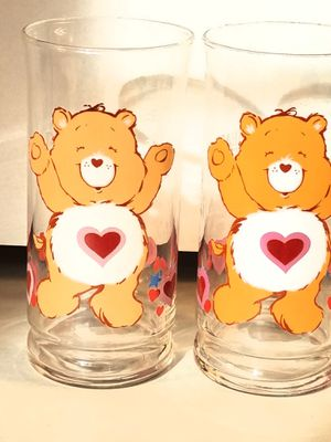 1983 Pizza Hut Care Bears Glass Tumblers - Tenderheart - Set of 2 for Sale in Houston, TX
