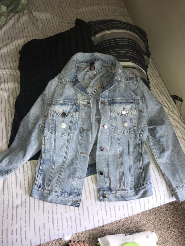 Victoria secret jean jacket size medium