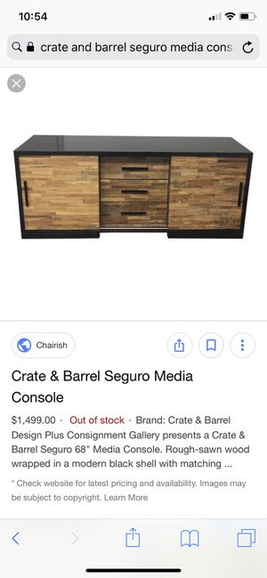 Crate and Barrel Seguro console table for Sale in Austin, TX