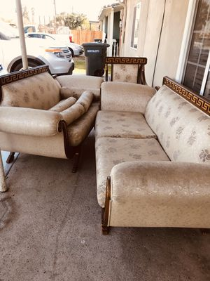 Living room 2 sofa 1 chair it is perfect conditions only clean need for Sale in Salida, CA