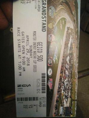 Talladega tickets for Sale in Dexter, GA
