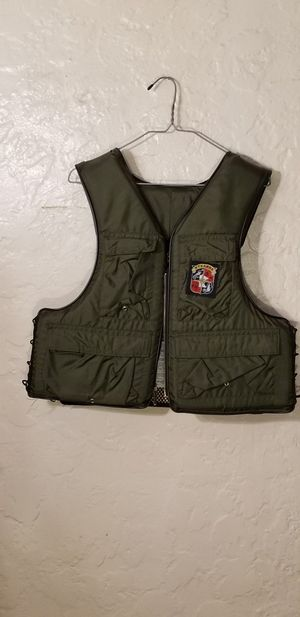 Vintage Stearns Sans Souci Type III Fishing Life Jacket Adult Medium Army Green for Sale in St. Louis, MO