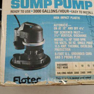 Flotec Sump Pump for Sale in Corona, CA