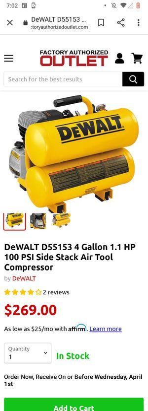 DeWalt air compressor for Sale in South Ogden, UT