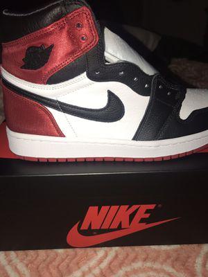 Jordan 1 Satin Black Toe for Sale in Houston, TX