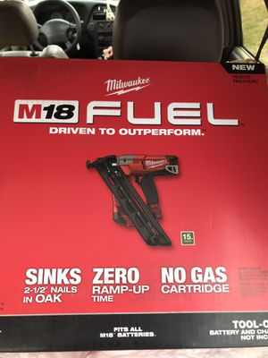 Milwaukee finish nailer for Sale in Capitol Heights, MD