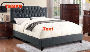 Full Upholstered Bed Frame, Grey for Sale in Downey, CA