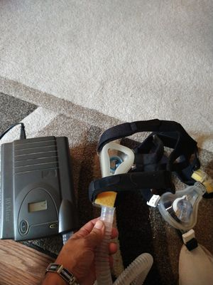 CPAP machine .with hose and two new mask. for Sale in Pasadena, MD