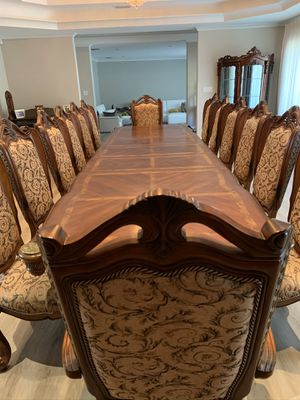Oak wood Dining Table with Chairs for Sale in Glendale, CA