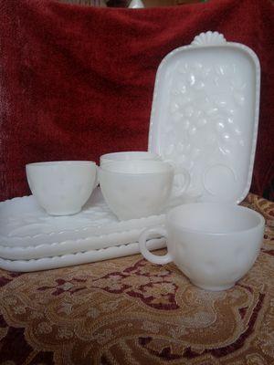 Vintage Milkglass Brunch Tea Set for Sale in Hannibal, MO