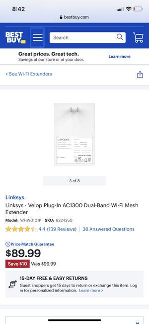 linksys velop wifi extender for Sale in La Mesa, CA