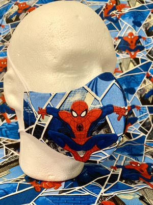 Handmade Masks Spider-Man. 100% Cotton. Hypoallergenic. Reusable. 5 Layers. Filter. for Sale in Orlando, FL