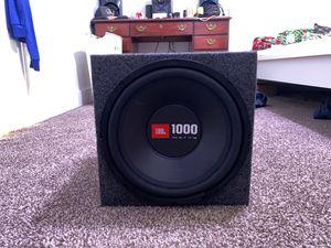 JBL 1000 watt subwoofer for Sale in Damascus, OR