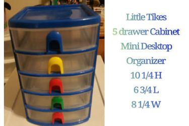 little tikes 5 drawer cabinet mini desk organizer for Sale in Hacienda Heights,  CA