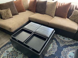 Sectional & Ottoman (Best offer) for Sale in Fresno, CA