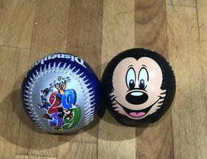 Set of 2 Disneyland Baseballs- Mickey Mouse baseball and Disney's baseball of 2009 Never Played With for Sale in San Gabriel, CA