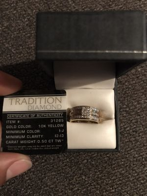Traditional GIA certified wedding ring 2pc. for Sale in Baltimore, MD