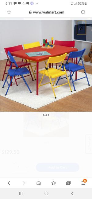 NEW KIDS TABLE WITH 6 CHAIRS for Sale in Charlotte, NC