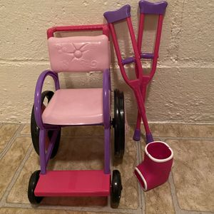 Wheelchair Accessory Set for American Girl or Our Generation Doll for Sale in Pittsburgh, PA