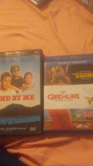 """Movies for sell- """"Stand by Me"""" (DVD) """"The Goonies"""" (Blu-Ray) """"Gremlins 1&2"""" (Blu-Ray) each of the classical movies are in great condition! for Sale in Ada, OK"""