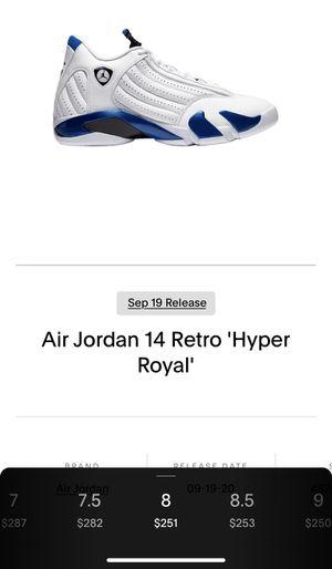 Air Jordan Retro 14 Hyper Royal sz 8 for Sale in El Paso, TX