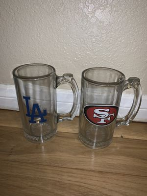 LA or SF Glass Cups $5 each for Sale in Whittier, CA