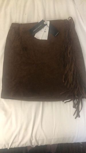 Ralph Lauren brown suede wrap skirt for Sale in Glendale, CO