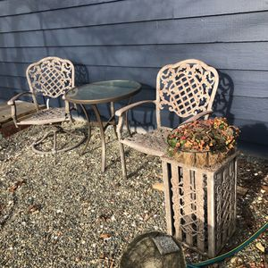 Patio Table & 2 Chairs Including Plant Holder for Sale in Seattle, WA